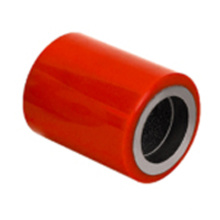 Roue simple à fourche PU (rouge) (3011)