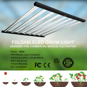 480W 6 Strips Spider Grow Light
