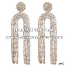 Large Rhinestone Wedding Queen Earrings