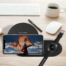 2 in1 10W Samsung телефон беспроводное зарядное устройство