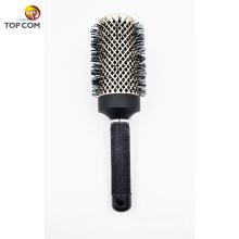 Escova de estilo profissional para cabelo brilhante saudável livre de frizz reta ou onda Melhor escova de cabelo redondo seco seca com cerdas de javali