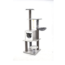 Tower Condo Cat Play Furniture Solid Wood Artificial Tree House For Cat
