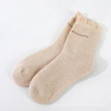 meias grossas de algodão orgânico quente térmico para mulheres