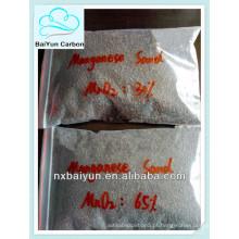 Meios filtrantes de areia de manganês para purificação de esgoto