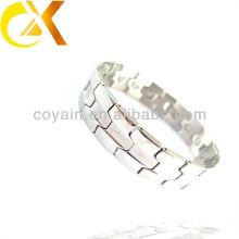 Pulsera de plata de acero inoxidable de la joyería de los hombres fabricante