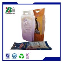 Плоская нижняя сторона Gusset Ziplock Пластиковая упаковка для пищевых продуктов