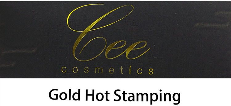 Elegant Offset Printing With Gold Foil Cosmetic Box