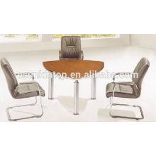 Stain steel legs and melamine top office reception desk (KM930)
