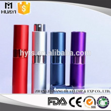 Atomizador de aluminio recargable de lujo del perfume del viaje mini 8ml / 10ml