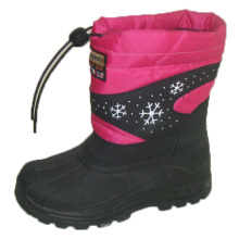 Beliebte Snow Boots / Injection Schuhe mit Nylon Oxford Upper (SNOW-190009)