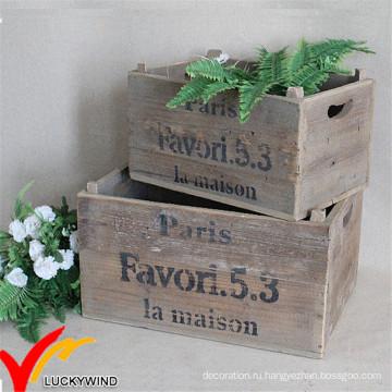 Старинная корзинка с древесными отходами