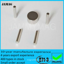JMD3.2H9.5 N35 Rare Earth Cylinder Magnet