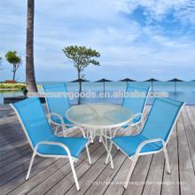5pcs steel outdoor garden furniture