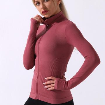Mujeres Gym Fitness Wear Sports Yoga Sudadera con capucha