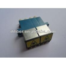 LC adaptador de fibra óptica con el obturador dúplex / fabricante quad de suministro de alta calidad final