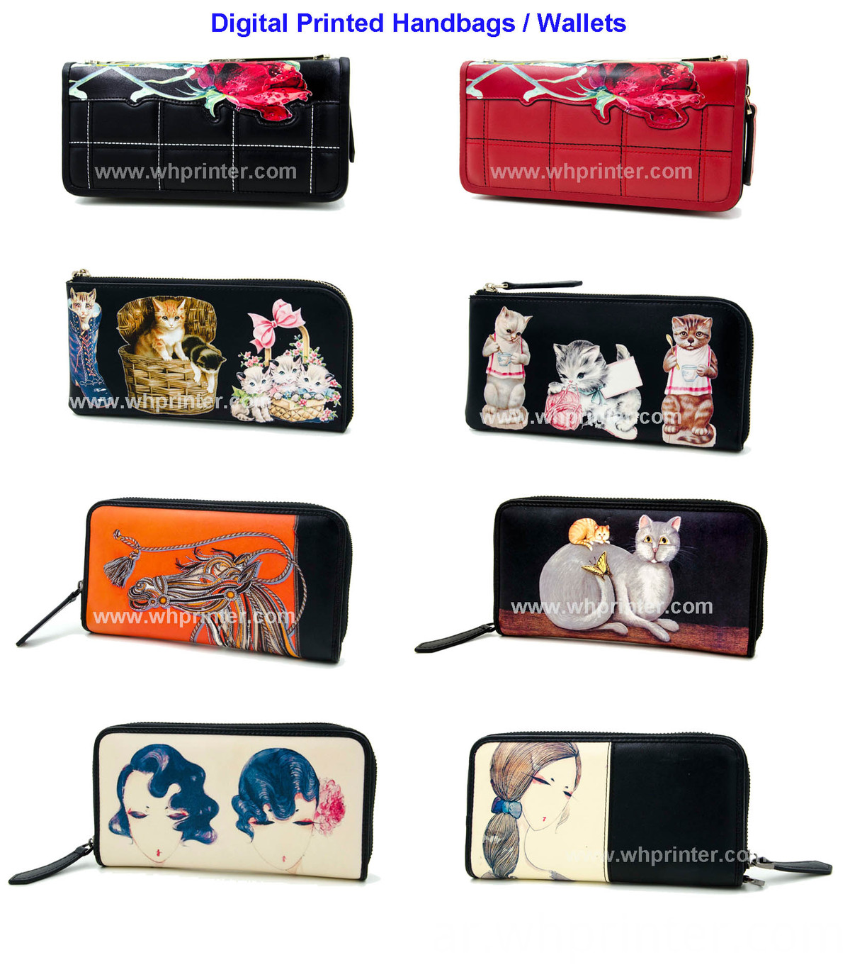 digital printed handbag and wallets