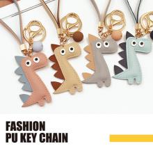 Porte-clés de mode PU design dinosaure