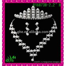 Новая оптовая продажа дизайна, корона короля серебра, горный хрусталь тиары корона тиара