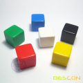 Colorful Blank Dice, counting cubes