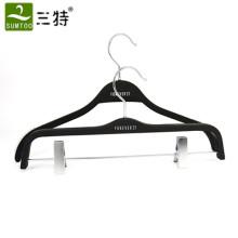Hot saling rubber black set wooden hangers of forever 21