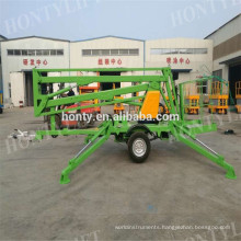 Adjustable aerial lift machine trailer arm lift hydraulic boom lift