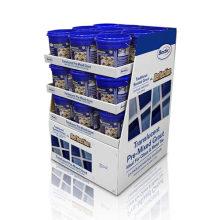 Rack de exhibición estable de la cartulina para el alimento, soporte de exhibición de la publicidad