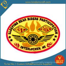 Supply Custom Gold Bullion Embroidery Badge