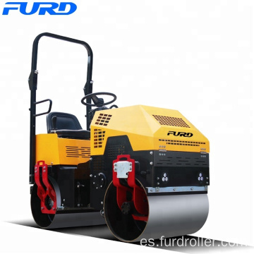 FURD Mini Road Roller 1000kg Ride-on Double Drum Compactor (FYL-880)