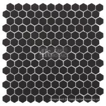 Hexagon Shape Kitchen Glass Mosaic Tile