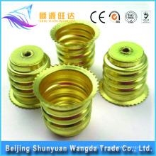 Pequim chapa metálica carimbar tipos de peças de suportes de lâmpada elétrica