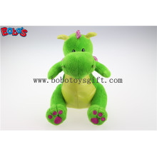 New Design Fashion Gifts Stuffed Green Dinosaur Animals with Purple Shiny Wingsbos1202