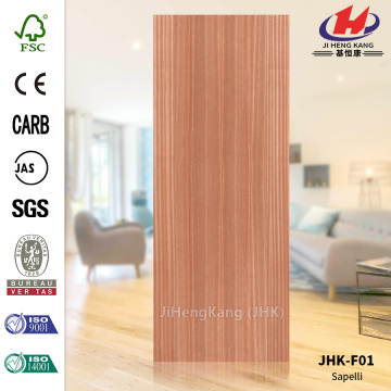 Flat Red Sapelli Natural Door Skin