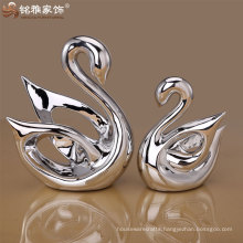 Handicraft art animal interior sculpture swan home decor crafts statue