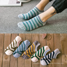 2020 Spring Summer Two Stripes Absorbent All-matched Cotton Stockings Cheap Men Ankle Socks