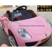 Carros elétricos do brinquedo do rosa para meninas