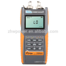 Ensemble de test de perte optique FHM2, compteur d'énergie à fibres et source laser, multimètre optique avec menu anglais