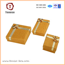 Elegant Golden Art Paper Jewelry Box