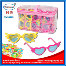 Kids Plastic Glass Toy with Candy PVC Bag