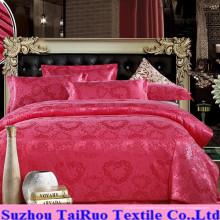 Cetim de seda em relevo para conjunto de lençol