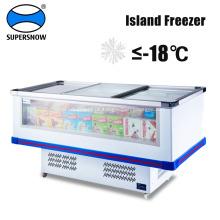Kühlgeräte für Inselkühler mit Meeresfrüchten