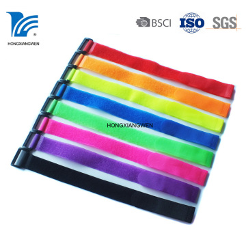 Nylon Reusable Printed Hook and Loop Cable Tie