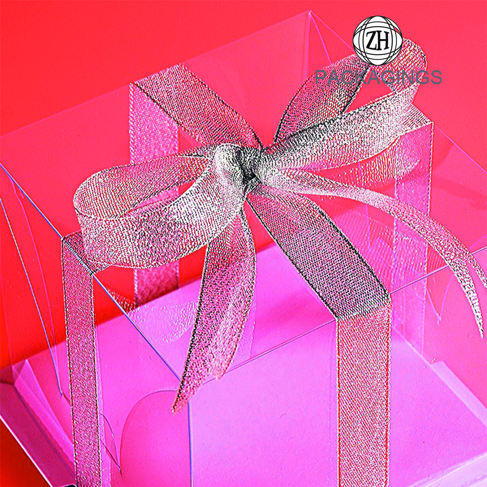 Transparent Plastic Cake Packaging Box Customize