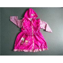 Lovely Design Veste de pluie pour fille en PVC avec capuche