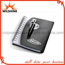 Custom Spiral PP Cover Notebook with Pen for Business Gift (PPN227)