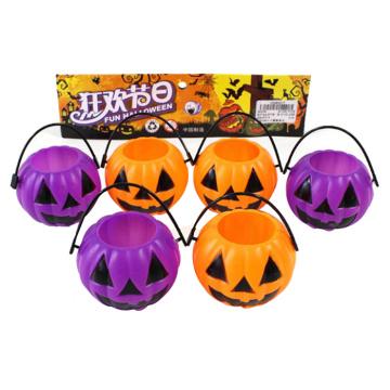 Brinquedo de abóbora balde de plástico Halloween (10263277)