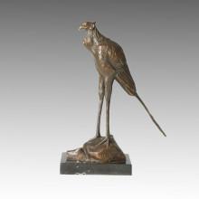 Animal Bronze Sculpture Bird Carving Craft Brass Statue Tpal-158