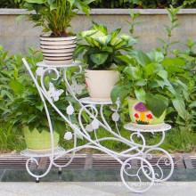 Support de jardinière en fer forgé pour décoration extérieure