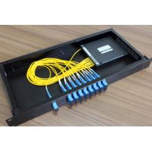 CWDM de fibra óptica de 16 canales con conector LC / FC / Sc / St