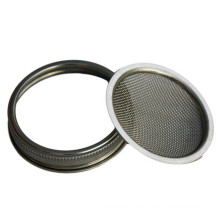 70MM Food Grade 304 Stainless Steel Fine Mesh Seed Sprouting Screen And Mesh Strainer Lid for Canning Jars