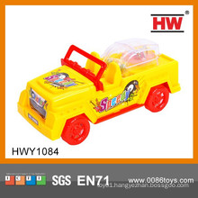 Hot Sale Plastic Pull line Mini Toy Car Toys With Candy